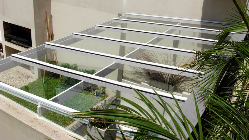 Techos vidriados dal aluminio for Cubiertas transparentes para techos